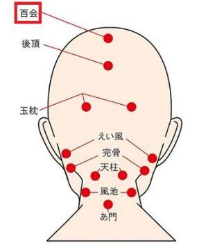 頭にある育毛のツボ